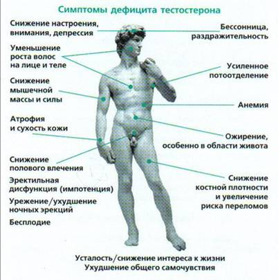 Симптомы дефицита тестостерона